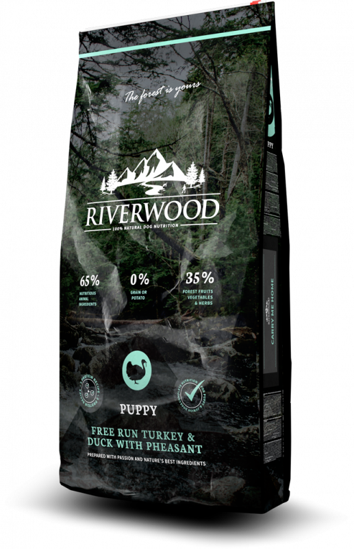 Riverwood Puppy  Сухой корм для щенков с Индейкой, уткой, фазаном и травами - Turkey & Duck with Pheasant